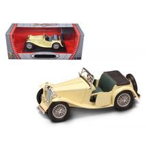 1947 MG TC Midget Yellow 1/18 Diecast Model Car by Road Signature 92468y - $60.47