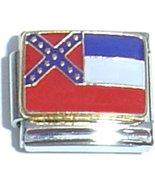Mississippi State Flag Italian Charm - $1.97