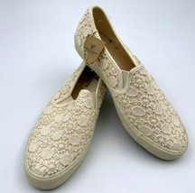 American Eagle Outfitters Ivory Cream Lace Crochet Flats Size 8 Womens 3283 New  - $33.85