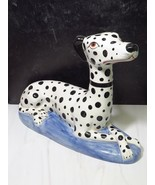 """XL 20"""" Staffordshire Style Dalmatian Spotted Dog Made in Italy Ceramic  - $197.01"""