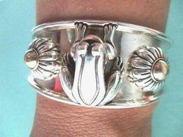 Barry Kieselstein Cord Frog & Flowers Cuff Bracelet Sterling & 14K Gold Orig Box image 4