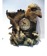 Bald Eagle With Chicks Clock Figurine Resin 6 3/4 High NEW NO BOX - £19.17 GBP