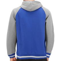 Men's Fleece Varsity Sweatshirt Letterman Sports Raglan Button Up Hoodie Jacket image 9
