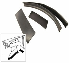 1957-1958 FULL SIZE FORD FRONT FENDER SPLASH APRON TO FRAME SEALS 4 PC. - $39.55