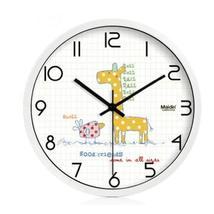 (Giraffe) 10-inch Silent fashion Art Pastoral Round Wall Clock,WHITE (NO... - $40.20