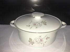 "Vintage Johann Haviland Bavarian China Vegetable Bowl W/ Lid 8 1/4"" - $12.50"