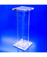 """Clear Stands Square Acrylic Pedestal, 9"""" x 9"""" x 30"""" High - $128.99"""