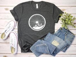 Cyclist T-Shirt Landscape Cycling Tshirt Bicyclist T-Shirt Mountain Bike T-Shirt - $16.40+