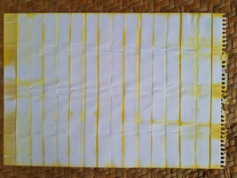 "Eco-Dyed Paper - Japanese Shibori (White/Yellow) (10.5"" x 7.5"") - $4.00"