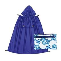 Naforye All-Seasons Rain Cover with Detachable Zippered Pouch (Pacific Waves)