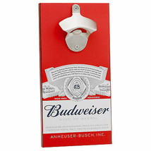 Budweiser Bottle Opener With Magnetic Cap Catcher Red - $24.98