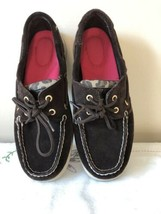 SPERRY Top-Sider Women's Leopard Print Boat Shoes Suede Brown Size 6.5M - $23.36