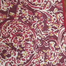 Set of 2 Threshold Red Brown Paisley Cotton Placemats & Napkins - $13.46