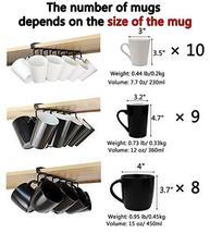 12-Hook Iron Under Cabinet Mug Hanger Brown image 6