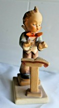 Goebel Hummel Figurine 129 Band Leader boy conductor music book  - $15.80