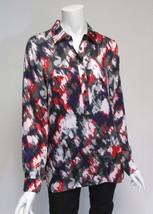 Michael Kors Multi-Color Long Sleeve Print 1/2 Button Down Shirt NWT Sz ... - $23.27