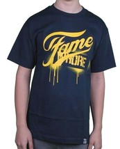 Dissizit! Mens Navy or Black Fame Whore Slick LA Graffiti Paint Drip T-Shirt NWT image 2
