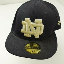 Notre Dame Fighting Irish New Era Fitted 7  7/8 Adult Baseball Ball Cap Hat - $13.85
