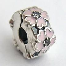 Authentic Pandora Pink Primrose Clip Charm, 791823EN68, Sterling w/ CZ, New - $38.01