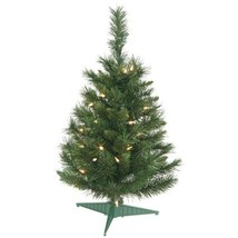 Vickerman Pre-lit Imperial Pine Tree with 35 Clear Dura-Lit Lights, 2-Feet, Gree
