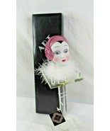 Seymour Mann Art Deco Collectible Doll Head On Stand Porcelain Haute Cou... - $39.59