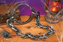"Leash Prop Zombie Shackles Dungeon Prisoner 36"" Halloween Haunted House ... - £25.86 GBP"