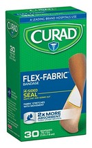 Curad Flex-Fabric, 3/4 Inches X 3 Inches bandages, 30 Count Pack of 6