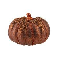 "Darice 6.5"" Autumn Copper and Orange Table Top Glittered Pumpkin - $314,81 MXN"