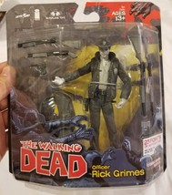 Rare McFarlane Rick Grimes Black & White Walking Dead Action Figure TWD ... - $97.99
