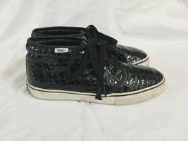 Vans Black Croc Pattern Chukka Boot LX Men 8 Women 9.5 Original Box IOB Shoe image 4