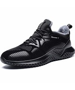 RUMPRA Mens Snow Shoes Warm Winter Boots Fur Lined Outdoor Fashion Sneak... - $20.22