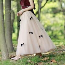 Handmade Champagne Tulle Skirt Outfit High Waisted Tulle Skirt Princess Skirt image 11