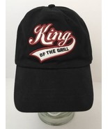 King Of The Grill Script Dad Hat Black Baseball Strapback Cap Summer Gri... - $22.23