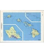 Hawaii Hawaiian Islands Vintage Map 1964 Cosmo Series Wall Art - $14.99