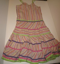 Girls Multi-colored Striped Sundress size 12 The Children's Place - $8.81