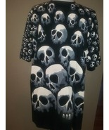 Vintage 90s Liquid Blue Skulls Pile T Shirt XL Tee Chris Pinkerton Dope   - $173.25