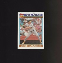 Jose Canseco 1991 Topps Glow Card Back UV Variant Baseball Card #390 - $7.09