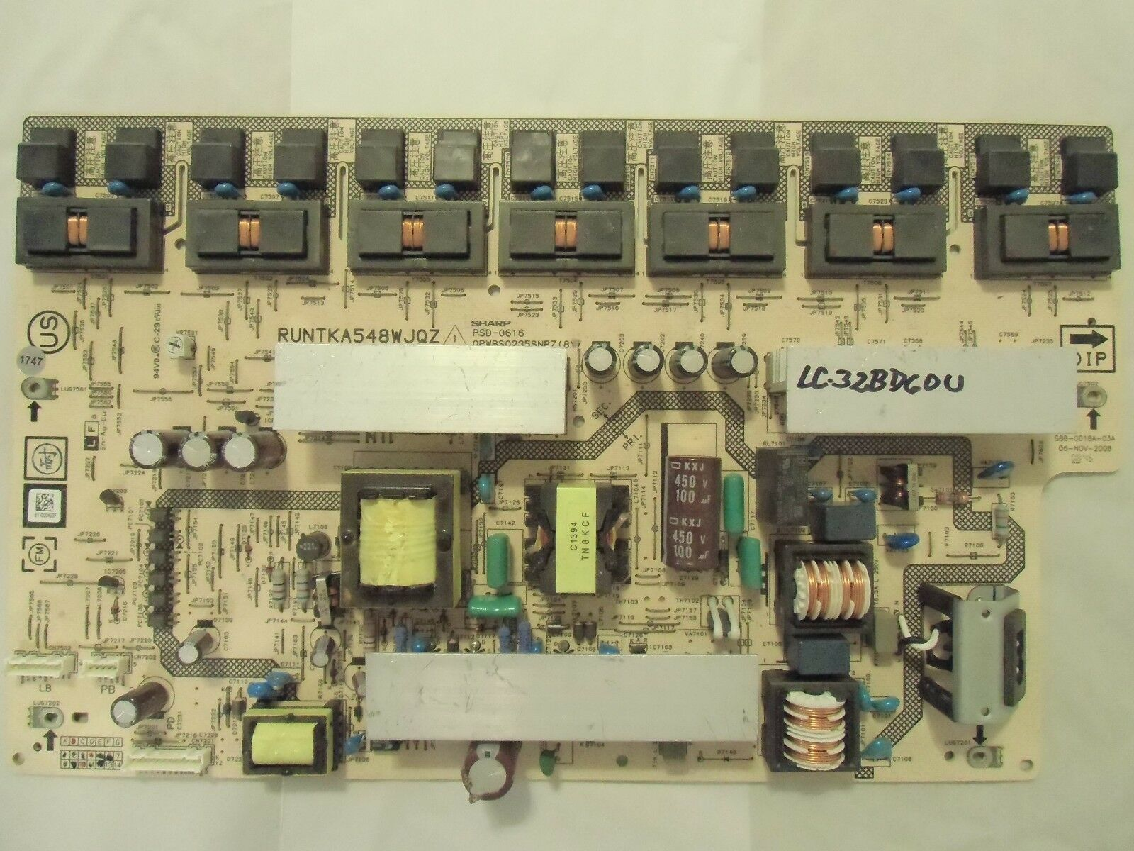 Primary image for Sharp LC-32BD60U Power Supply Unit RUNTKA548WJQZ