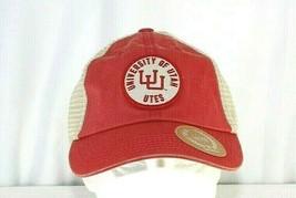 University Of Utah Utes Red Baseball Cap Snapback - $31.99