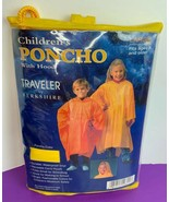 Children's Poncho With Hood Yellow Size L Fits ages 8 and Up New in Package - $8.59