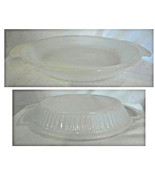"Anchor Hocking Fire-King 1460 9"" White Milk Glass Ribbed Pie Plate Tab H... - $10.00"