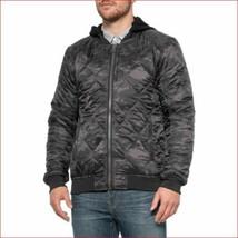 new PROJEK RAW men jacket hooded full zip 133570 black camo sz XL - $36.88