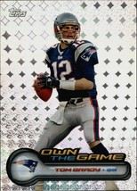 TOM BRADY 2006 TOPPS  OWN THE GAME INSERT CARD#OTG1-PATRIOTS QB INSERT - $9.85