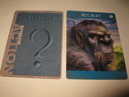 2003 Age of Mythology Board Game Piece: Norse Random Card: Recruit 3 - $1.00