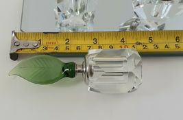 NIB - CELLINI COLLECTION CRYSTAL PERFUME BOTTLE SET WITH MIRROR TRAY image 4