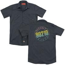 90210 Color Logo Adult Work Shirt Back Print Beverly Hills Unisex - $42.98+