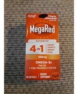 Schiff MegaRed 4 in 1 500mg Omega 3 Fish & Krill Oil - 40 Softgels / Exp... - $19.79