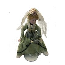 DECORATIVE DOLL WITH MINT GREEN DRESS FOR TABLE TOP - $5.45
