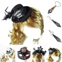 New Design Happy New Year Mini Fedora Hat On Hat Hair Clips Top Hat Head... - $5.69+