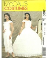 McCall's Civil War Pattern 3609. Misses Szs 12;14;16;18 Hoop Skirt; Cami... - $9.89